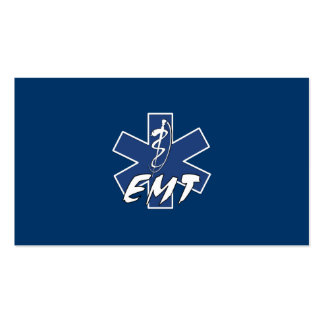 EMT Active Star of Life Double-Sided Standard Business Cards (Pack Of 100)