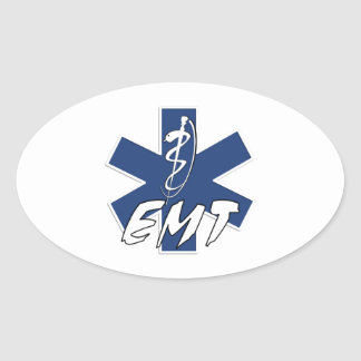 EMT Active Star of Life Oval Sticker