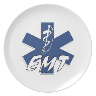 EMT Active Star of Life Party Plate
