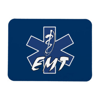 EMT Active Star of Life Rectangular Photo Magnet