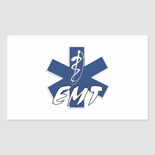 EMT Active Star of Life Rectangular Sticker