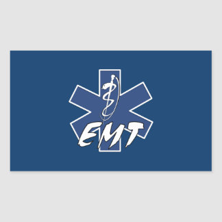 EMT Active Star of Life Rectangular Sticker