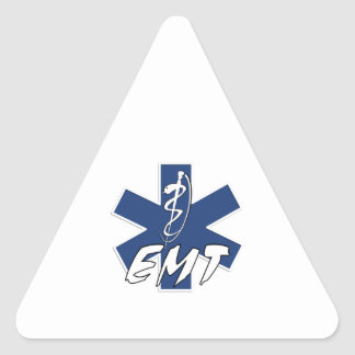 EMT Active Star of Life Triangle Sticker