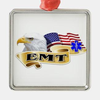 EMT American Pride Eagle Flag Metal Ornament