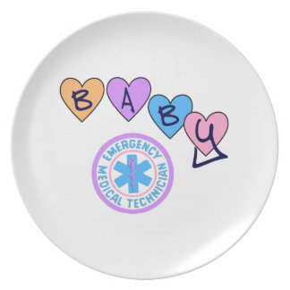 EMT Baby Star Of Life Dinner Plate