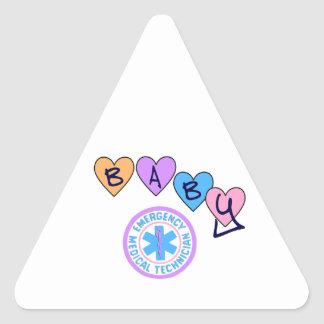 EMT Baby Star of Life Triangle Stickers