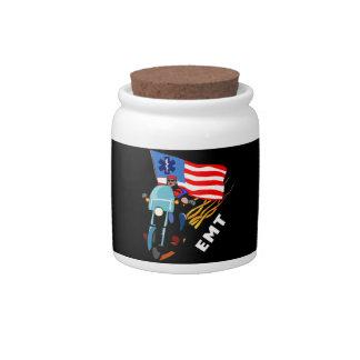 EMT Biker Candy Jar