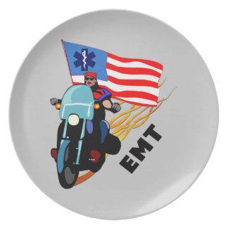 EMT Biker Dinner Plate