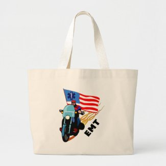 EMS tote bags for EMT's and paramedics.  You save lives, save the day, why not help save our planet!