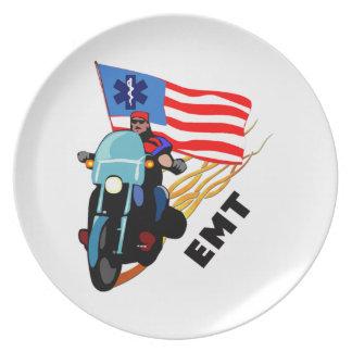 EMT Biker Melamine Plate