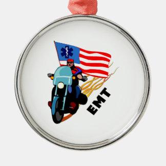 EMT Biker Metal Ornament