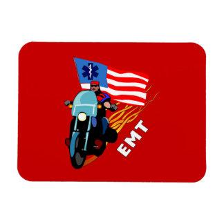 EMT Biker Rectangle Magnets