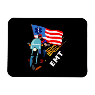 EMT Biker Rectangular Photo Magnet
