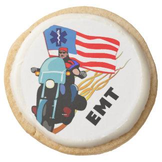 EMT Biker Round Shortbread Cookie