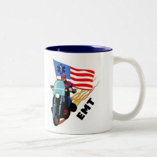 EMT Biker Two-Tone Coffee Mug