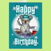 EMT Birthday Koala Card