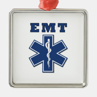 EMT BLUE STAR OF LIFE METAL ORNAMENT