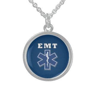 EMT Blue Star of Life Sterling Silver Necklace