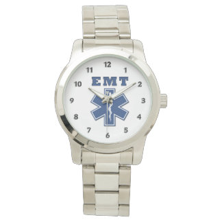 EMT Blue Star of Life Wrist Watch