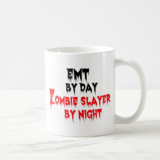 EMT by Day Zombie Slayer by Night Classic White Coffee Mug