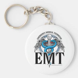 EMT Caduceus Blue Keychain