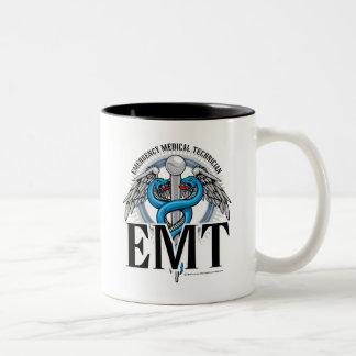EMT Caduceus Blue Mugs