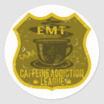 EMT Caffeine Addiction League Classic Round Sticker