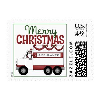 EMT Christmas Gift Postage Stamp