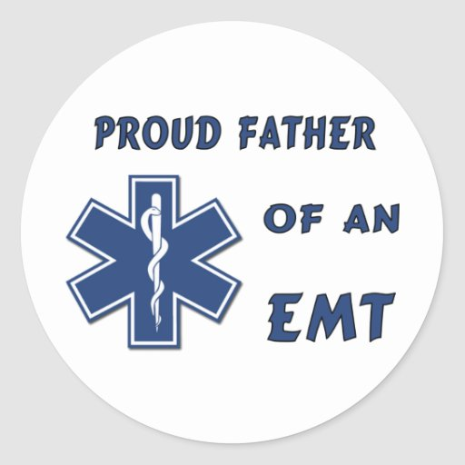 EMT Dad Classic Round Sticker