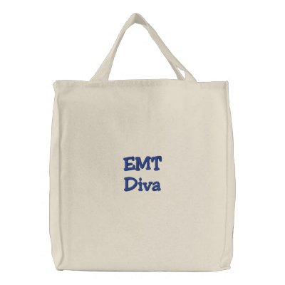 EMT Diva Embroidered Tote Bags