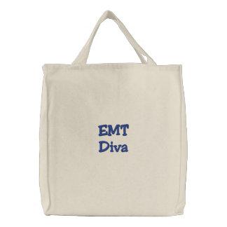 EMT Diva Embroidered Tote Bag
