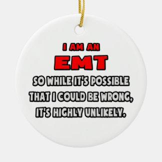 EMT divertido. Altamente inverosímil Adorno Redondo De Cerámica