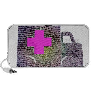 Emt Doctor Nurse Medical Pattern Digital Art iPhone Speaker