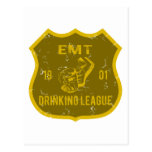 EMT Drinking League Postcard