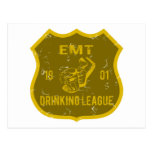 EMT Drinking League Postcard