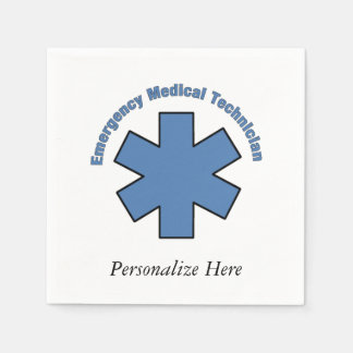 EMT Emergency Med Tech Paper Napkin