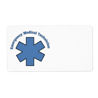 EMT Emergency Medical Tech Label
