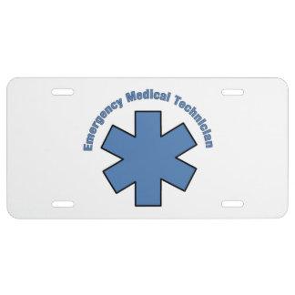 EMT Emergency Medical Tech License Plate