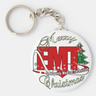 EMT Emergency Medical Technician CHRISTMAS Keychain