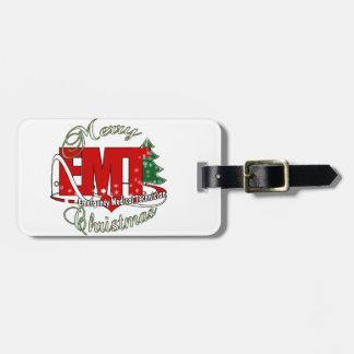 EMT Emergency Medical Technician CHRISTMAS Travel Bag Tag