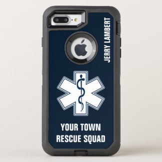 EMT EMS Paramedic Name and Squad OtterBox Defender iPhone 7 Plus Case