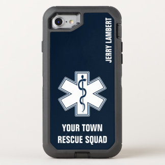 EMT EMS Paramedic Name and Squad OtterBox Defender iPhone 8/7 Case
