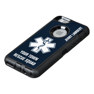 EMT EMS Paramedic Name and Squad OtterBox Defender iPhone Case