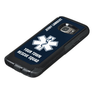EMT EMS Paramedic Name and Squad OtterBox Samsung Galaxy S7 Case