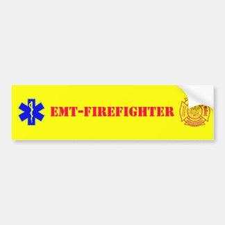 EMT-FIREFIGHTER - bumper sticker Car Bumper Sticker
