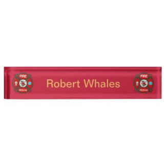EMT Firefighter Custom Acrylic Desk Nameplate