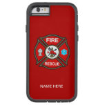 EMT Firefighter Maltese Cross Tough Xtreme iPhone 6 Case