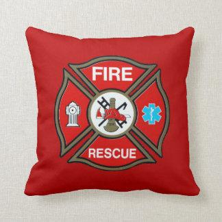 EMT Firefighter Maltese Cross Throw Pillows