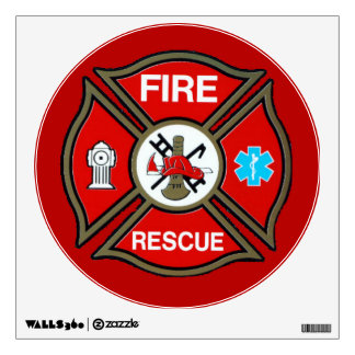 EMT Firefighter Maltese Cross Wall Sticker