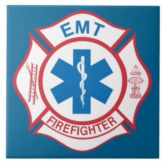 EMT firefighter symbol Tile